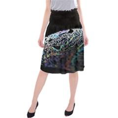 Bubble Iridescent Soap Bubble Midi Beach Skirt