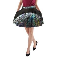 Bubble Iridescent Soap Bubble A Line Pocket Skirt