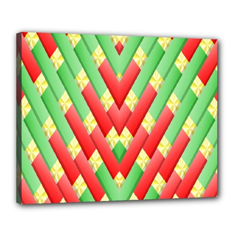 Christmas Geometric 3d Design Canvas 20  X 16