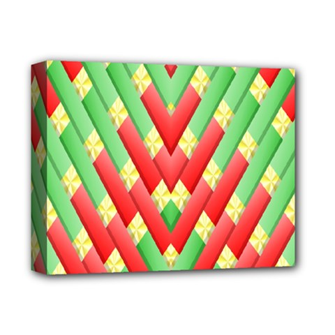 Christmas Geometric 3d Design Deluxe Canvas 14  X 11