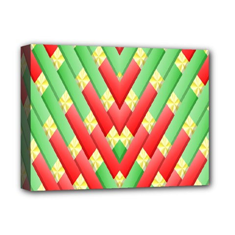 Christmas Geometric 3d Design Deluxe Canvas 16  X 12