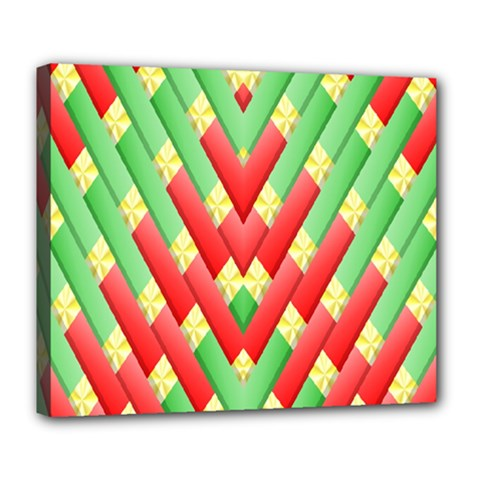Christmas Geometric 3d Design Deluxe Canvas 24  X 20