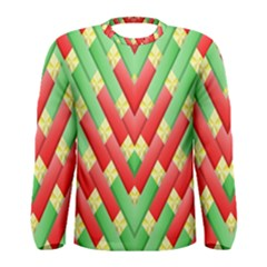 Christmas Geometric 3d Design Men s Long Sleeve Tee