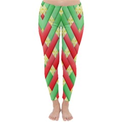 Christmas Geometric 3d Design Classic Winter Leggings