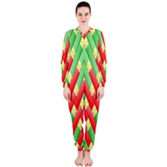 Christmas Geometric 3d Design Onepiece Jumpsuit (ladies)