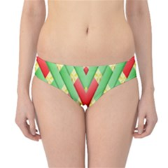 Christmas Geometric 3d Design Hipster Bikini Bottoms