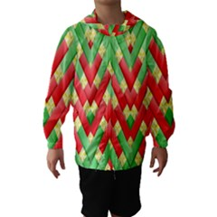 Christmas Geometric 3d Design Hooded Wind Breaker (kids)