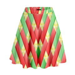 Christmas Geometric 3d Design High Waist Skirt