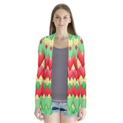 Christmas Geometric 3d Design Cardigans