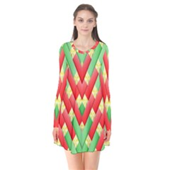 Christmas Geometric 3d Design Flare Dress