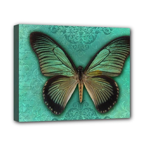 Butterfly Background Vintage Old Grunge Canvas 10  X 8