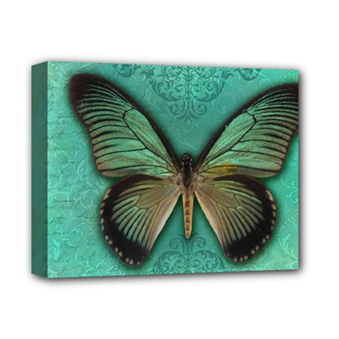 Butterfly Background Vintage Old Grunge Deluxe Canvas 14  X 11