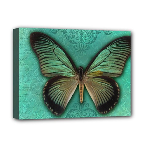 Butterfly Background Vintage Old Grunge Deluxe Canvas 16  X 12