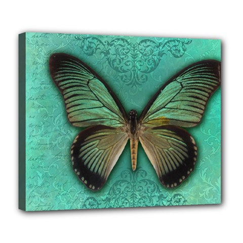 Butterfly Background Vintage Old Grunge Deluxe Canvas 24  x 20