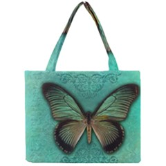 Butterfly Background Vintage Old Grunge Mini Tote Bag