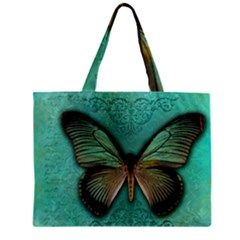 Butterfly Background Vintage Old Grunge Zipper Mini Tote Bag