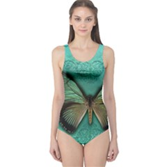 Butterfly Background Vintage Old Grunge One Piece Swimsuit