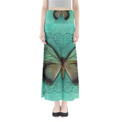 Butterfly Background Vintage Old Grunge Maxi Skirts
