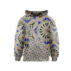 Ceramic Portugal Tiles Wall Kids  Pullover Hoodie