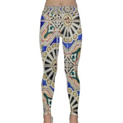 Ceramic Portugal Tiles Wall Classic Yoga Leggings