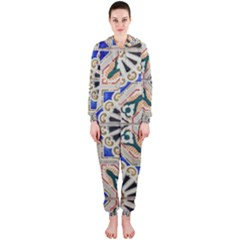 Ceramic Portugal Tiles Wall Hooded Jumpsuit (ladies)