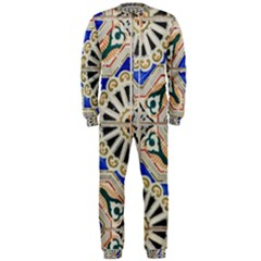 Ceramic Portugal Tiles Wall Onepiece Jumpsuit (men)