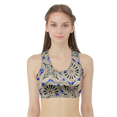 Ceramic Portugal Tiles Wall Sports Bra With Border
