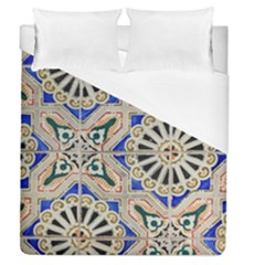 Ceramic Portugal Tiles Wall Duvet Cover (queen Size)