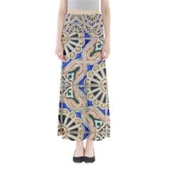 Ceramic Portugal Tiles Wall Maxi Skirts