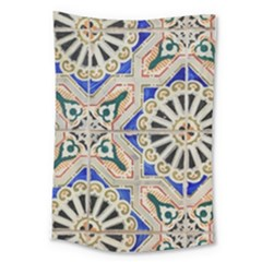 Ceramic Portugal Tiles Wall Large Tapestry