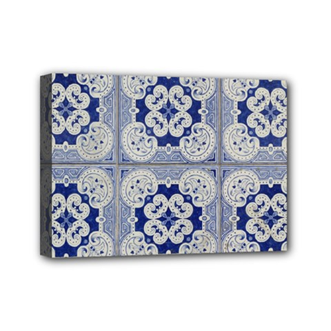 Ceramic Portugal Tiles Wall Mini Canvas 7  X 5