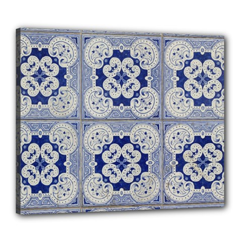 Ceramic Portugal Tiles Wall Canvas 24  X 20