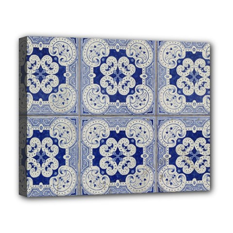 Ceramic Portugal Tiles Wall Deluxe Canvas 20  X 16