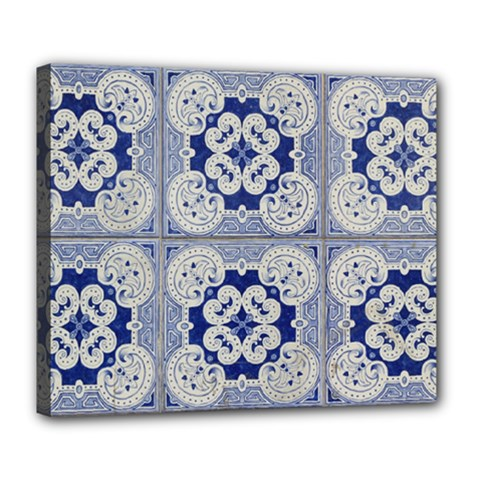 Ceramic Portugal Tiles Wall Deluxe Canvas 24  X 20