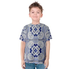 Ceramic Portugal Tiles Wall Kids  Cotton Tee