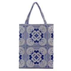 Ceramic Portugal Tiles Wall Classic Tote Bag