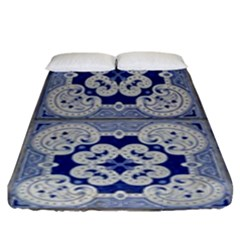 Ceramic Portugal Tiles Wall Fitted Sheet (king Size)