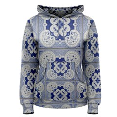 Ceramic Portugal Tiles Wall Women s Pullover Hoodie