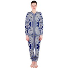 Ceramic Portugal Tiles Wall Onepiece Jumpsuit (ladies)