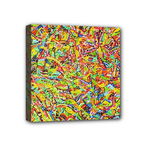 Canvas Acrylic Design Color Mini Canvas 4  X 4