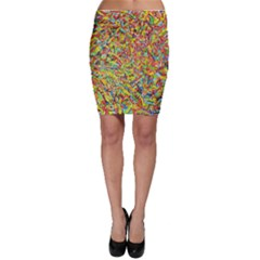 Canvas Acrylic Design Color Bodycon Skirt