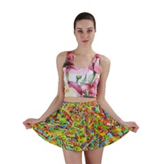 Canvas Acrylic Design Color Mini Skirt