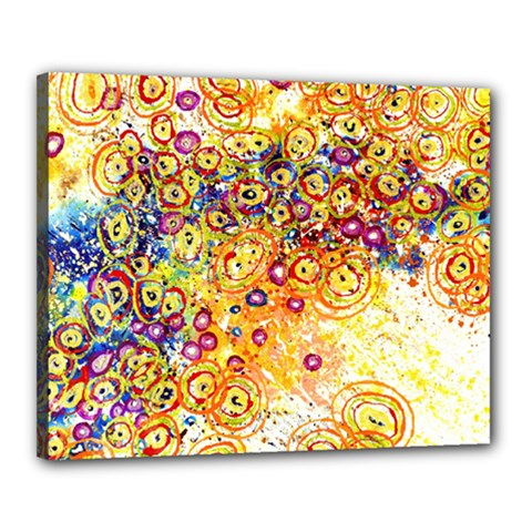 Canvas Acrylic Design Color Canvas 20  X 16