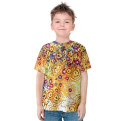 Canvas Acrylic Design Color Kids  Cotton Tee
