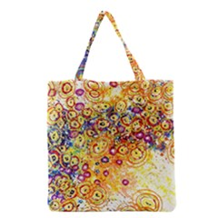 Canvas Acrylic Design Color Grocery Tote Bag