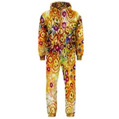 Canvas Acrylic Design Color Hooded Jumpsuit (men)
