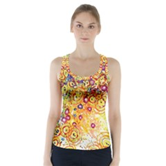 Canvas Acrylic Design Color Racer Back Sports Top