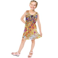 Canvas Acrylic Design Color Kids  Tunic Dress