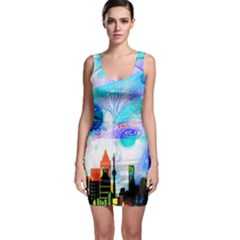 Dirty Dirt Spot Man Doll View Sleeveless Bodycon Dress