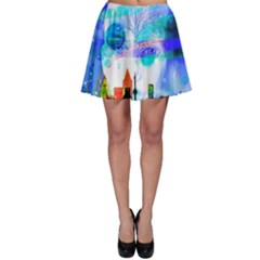 Dirty Dirt Spot Man Doll View Skater Skirt